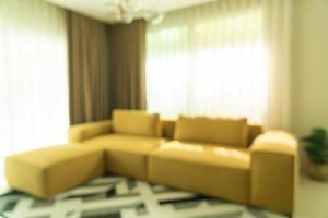 desenfoque abstracto sala de estar moderna y de lujo foto