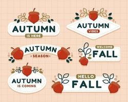 Elegant Autumn Floral Badge vector