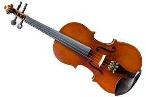 The violin on the table, Close up of violin on the wooden floo photo