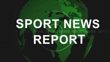 Sport news intro video