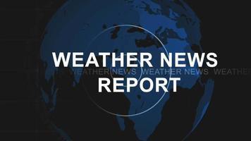 Weather news intro video