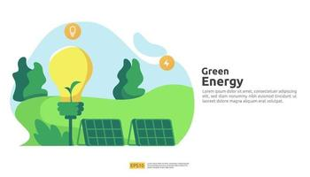 Environmental concept for green clean energy sources electric vector