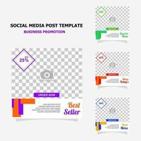 Social media post for your business promotion style twenty one vector
