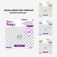 Social media post for your business promotion style six vector