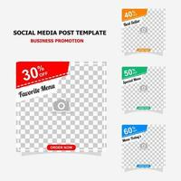 Social media post for your business promotion style five vector