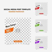 Social media post for your business promotion style two vector