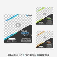 Social media post for digital marketing style five vector