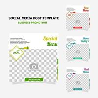 Social media post for your business promotion style seven vector