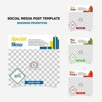 Social media post for your business promotion style fourteen vector
