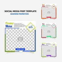 Social media post for your business promotion style eighteen vector