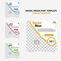 Social media post for your business promotion style thirteen vector