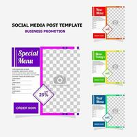 Social media post for your business promotion style twelve vector
