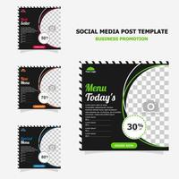 Social media post promotion with dark brown colour style twenty vector