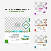 Social media post for your business promotion style ten vector