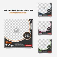 Social media post promotion with dark brown colour style twenty seven vector
