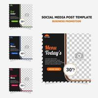 promoción de publicaciones en redes sociales con estilo de color marrón oscuro vector