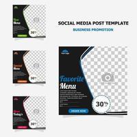 promoción de publicaciones en redes sociales con estilo de color marrón oscuro veinticuatro vector