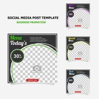 promoción de publicaciones en redes sociales con estilo de color marrón oscuro veintinueve vector