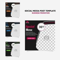 promoción de publicaciones en redes sociales con estilo de color marrón oscuro veinticinco vector