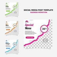 Publicación en redes sociales para el estilo de promoción de su negocio veinte. vector