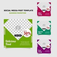 plantilla simple promoción de redes sociales estilo veinte vector