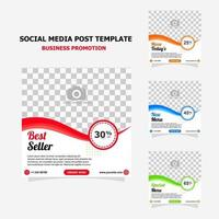 Social media for your food business promotion style two vector