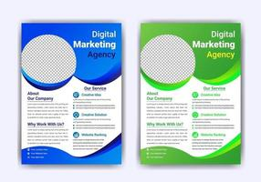 Digital business marketing flyer template vector