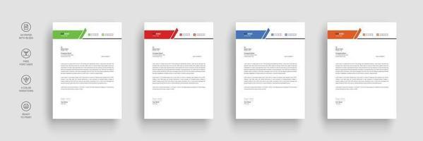 Business letterhead template vector
