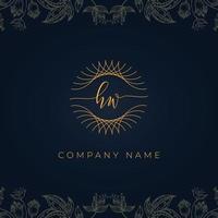 Elegant luxury letter HW logo. vector