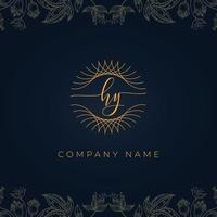 Elegant luxury letter HY logo. vector