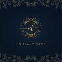 Elegant luxury letter ID logo. vector
