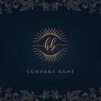 Elegant luxury letter HB logo. vector