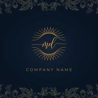 Elegant luxury letter MD logo. vector
