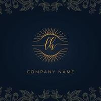 Elegant luxury letter LH logo. vector