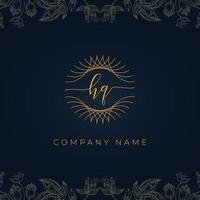 Elegant luxury letter HQ logo. vector