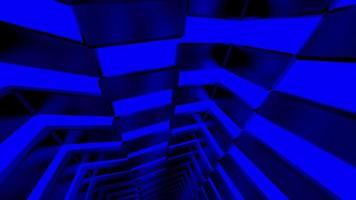 Square box blue neon light video