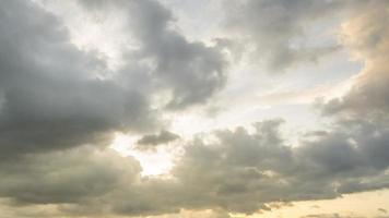 Time Lapse Movement of Stratocumulus In the evening video
