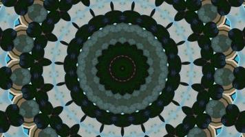 Floral abstract kaleidoscope background video