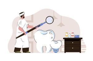 Dental medicine concept for website and mobile site vector