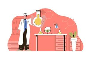 Medical research concept for website and mobile site vector