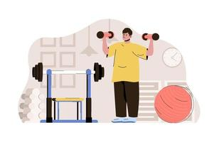 Keep fit concept for website and mobile site vector