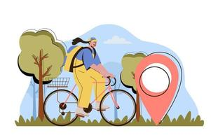 Delivery on time concept for website and mobile site vector