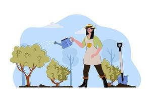 Crop care concept for website and mobile site vector