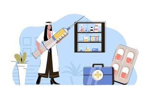 Quality medicine concept for website and mobile site vector
