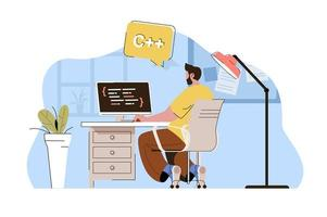 Software engineering concept for website and mobile site vector