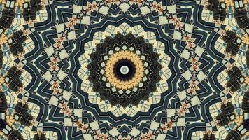 Ethnic abstract kaleidoscope background video