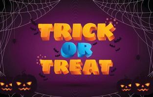 Trick Or Treat Halloween Background vector