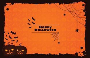 Fondo de silueta de halloween espeluznante vector