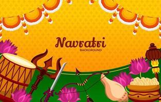 Happy Navratri Festival Background vector