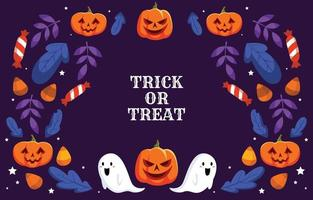 Halloween Trick or Treat Background vector